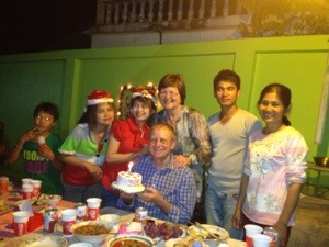 The first Christmas for this family marked by a one-candle cake