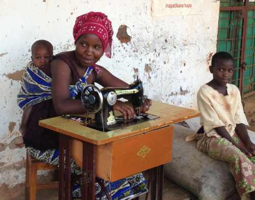Sewing machines are not expensive to us, and give independence to them.